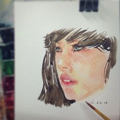 ... to face   ทดลองอะไรหน่อย ;) #watercolor #painting
