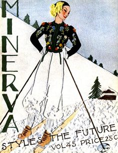 Minerva Styles the Future | Volume 45. More than a dozen 1930's stylish women's knitting patterns available as free downloads.