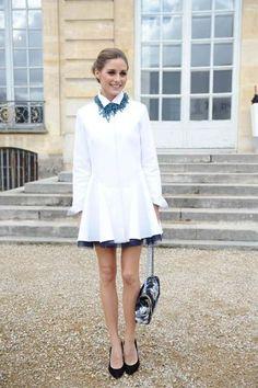 オリビア・パレルモ - これぞ究極のレディスタイル!上品な白とまとめ髪でDiorショーにて | 海外セレブファッションスナップ CELEB SNAP