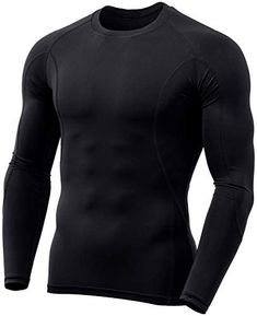 TSLA Men's (Pack of 1, 3) Cool Dry Fit Long Sleeve Compression Shirts, Athletic Workout Shirt, Active Sports Base Layer T-Shirt