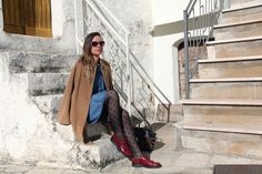 With @Stefanel_ita #coat and #Pollini #shoes