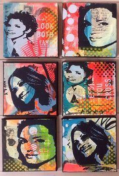 Popart #kunstskizzen High School Art Projects, 8th Grade Art, Stencil Art, Stencil Graffiti, Teen Art, Jr Art, Art Curriculum, Middle School Art, Art Pop