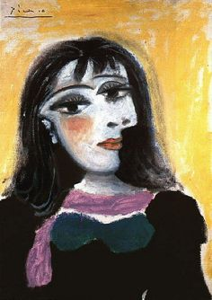 Pablo Picasso. Portrait de Dora Maar 8. 1937 year