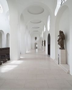 More from John Pawson's website re St Moritz Church. 'The work has involved the meticulous paring away selected parts of The church's complex fabric and the re location of certain artefacts, to achieve to achieve a clearer visual field' Project Architect Jan Hobel. johnpawson.com @johnpawson