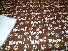Cat Blanket by PawsPets on Etsy