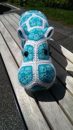 My very own Happy Hippo. :) Ravelry: Project Gallery for Happypotamus The Happy Hippo Crochet Pattern pattern by Heidi Bears