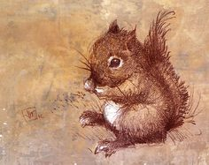 Winston the Little Baby Squirrel Guy. Art Print from My Original Drawing. Woodland. Nursery Art on Etsy, $35.00