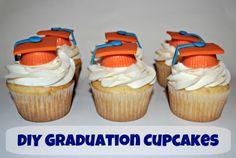 DIY Graduation Cupcake Tutorial