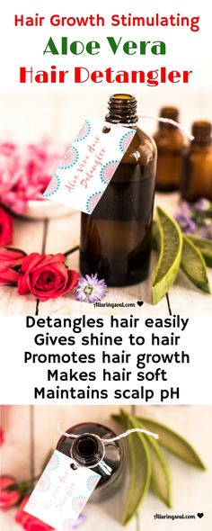 This aloe vera hair detangler makes hair soft & shiny and also promotes hair growth. It easily detangles hair and conditions it too. Check out how it can help you. The post DIY Hair Growth Stimulating Hair Detangler appeared first on Hair Styles. Diy Hair Care, Hair Care Tips, Natural Hair Care, Natural Hair Styles, Diy Hair Detangler, Aloe Vera For Hair, Black Hair Care, Good Health Tips, How To Make Hair