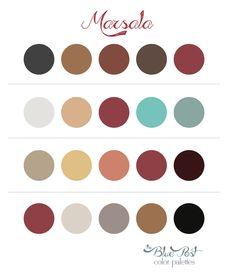 Color Palettes - Marsala (a cor Pantone para 2015)