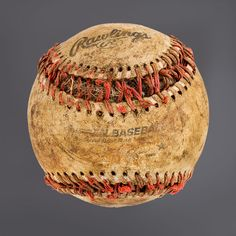 """Rawlings"" photographed by Don Hamerman from his collection of found baseballs"