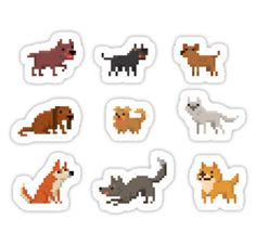 """Dogs - Set of 9"" Stickers by fulifuli 