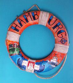 Rettungsring Hamburg Hafen by Lena Kaufmann, via Behance #Hamburg #EuropaPassage #EuropaPassageHamburg