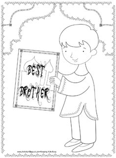 Best brother Diwali colouring page, Bhaija Dooj Great Warriors, Festival Background, Diwali Craft, Best Sister, Stained Glass Patterns, Sister Gifts, New Kids, Colouring Pages, Adult Coloring