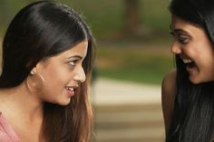 Close-up of two girls talking to each other outside. All Girls School, Body Language, Losing Her, To Tell, Cheating, Close Up, The Outsiders, Facial, Eyes