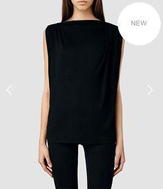 Noir Vi top, £68, All Saints  http://www.allsaints.com/women/tops/allsaints-noir-vi-top/?colour=3483&category=490