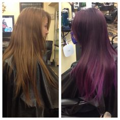 Short 2 long hair extensions are amazing diy pinterest long purple ombre on long layered hair pmusecretfo Choice Image