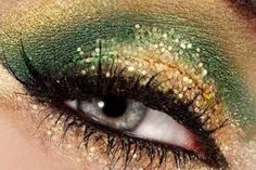 Image result for glittery green eyeshadow