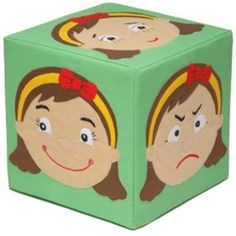 Miss Face Cube: Cubes with different expressions on each side. Great fun for activities and group games. A perfect way to discuss emotions and feelings. : W/D/H 20 x 20 x Social Emotional Activities, Emotions Activities, Therapy Activities, Toddler Activities, Preschool Activities, How To Express Feelings, Feelings And Emotions, Expressing Feelings, Nonviolent Communication