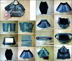 Kot Pantolondan Çanta Yapımı