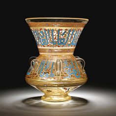 A MAMLUK REVIVAL ENAMELLED GLASS MOSQUE LAMP, EUROPE, 20TH CENTURY