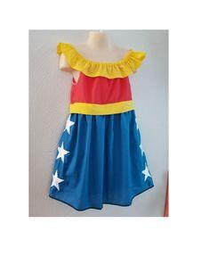 Girls 2T-8 Wonder Woman Inspired Dress Shirt, Costume Disney Vacation Outfit, Girl Disney World, Superhero Dress up Kids Cosplay, DC comics by MandEmDesignsStudio on Etsy