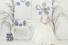 Sebastian Gunawan for Lamiik Bridal at www.bridestory.com #weddingideas #weddinginspiration #thebridestory #weddinggown