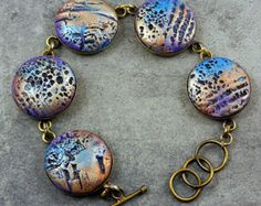 Butterfly Wing Bracelet - Polymer Clay