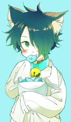 the promised neverland enma Anime Neko, Anime Cat Boy, Cute Anime Boy, Otaku Anime, Anime Naruto, Manga Anime, Neko Boy, Neko Kawaii, Terra Do Nunca