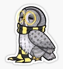 """""""Kind Great Grey Owl"""" Stickers by Ribombyliidae Harry Potter Stickers, Harry Potter Owl, Harry Potter Drawings, Printable Stickers, Cute Stickers, Anime Stickers, Laptop Stickers, Hogwarts, Slytherin"""