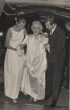 Queen Elisabeth of Belgium with her grandson, the future King Albert of the Belgians and his wife Paola