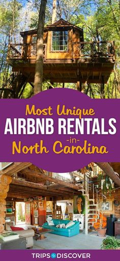 Stay somewhere truly unique in these North Carolina Airbnb rentals - See Pic Ashville North Carolina, Ashville Nc, North Carolina Vacations, South Carolina, Charlotte North Carolina, North Carolina Camping, Highlands North Carolina, North Carolina Vacation Rentals, Western North Carolina