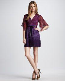 Nanette Lepore Bonfire Leopard-Print Kimono Dress