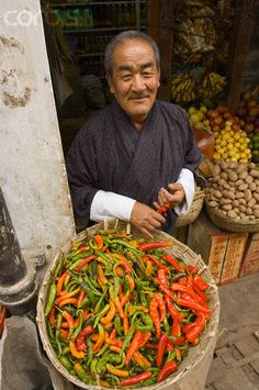 Peppers for Sale - Bhutan