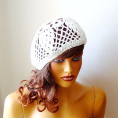 f21ab8c85f6 Items similar to Crochet Bride White Lace Hat