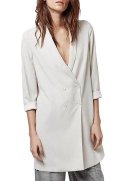 Topshop Topshop Slouchy Longline Blazer available at #Nordstrom