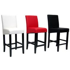 @Overstock.com - This set of two North Canyon counter stools is the ultimate combination of style, comfort and versatility. The leatherette upholstery is available in black, red, or white with a rich black finish on the sturdy birch hardwood legs.http://www.overstock.com/Home-Garden/North-Canyon-Counter-Height-Stools-Set-of-2/6082516/product.html?CID=214117 $170.99