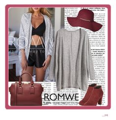 """Romwe contest"" by fashionholics-h-a ❤ liked on Polyvore featuring moda i Burberry"