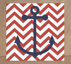 Nautical Theme, Regatta, Children's Wall Art, Nursery Wall Art, Children's Canvas- Set of four 10x10 stretched canvas Pottery Barn inspired