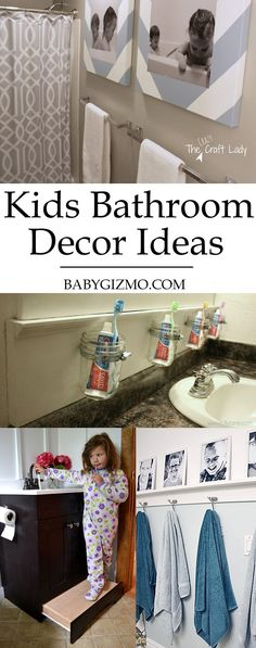 Turn your child's bathroom from boring to amazing with this fun ideas! #homedecor #bathroom #home