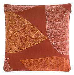 Pentik - Oranssi lehti-tyynynpäällinen 16 €