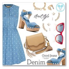 """Double Down on Denim"" by dressedbyrose ❤ liked on Polyvore featuring Yumi, MICHAEL Michael Kors, Rebecca Minkoff, Marni, Vera Bradley and Denimondenim"