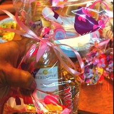 Mini moscato bottles in an adult goodie bag!