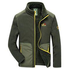 Casual Outdoor Thicken Extra Fleece Warm Solid Color Stand Collar Jacket For Men - Gchoic.com