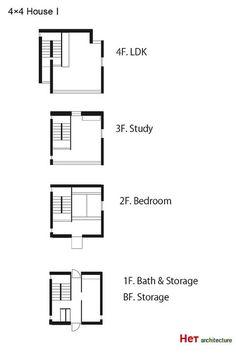 x4 House 4×4の家 Ⅰ・Ⅱ 写真一覧/安藤忠雄Tadao Ando