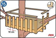 In den leicht verständlichen Anleitungen von der Skil website erfahren Sie, wie Sie ein Baumhaus für Ihre Kinder bauen.