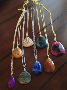 Handmade stone necklaces www.facebook.com/BayouBlingLA