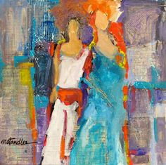 """Nancy Standlee Fine Art: Mixed Media Collage Acrylic Figurative Painting ~ """"That's What I Like About You"""" ~ by Texas Daily Painter Nancy Sta..."""