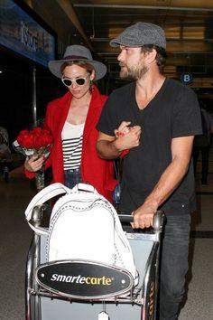 Diane Kruger and Joshua Jackson at LAX