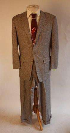 Vintage suit 1950s.
